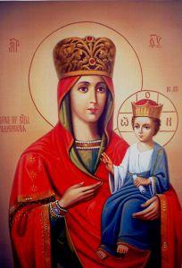 Рукописная икона Рудненская