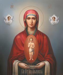Рукописная икона Албазинская