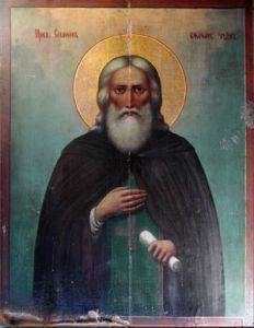 Рукописная икона Симон Воломский Устюмский