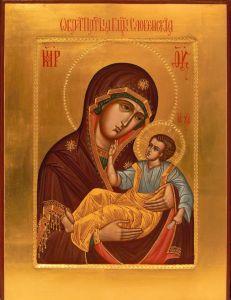 Рукописная икона Словенская