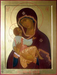 Рукописная икона Соболевская