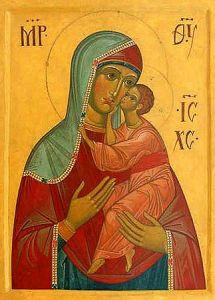 Рукописная икона Ставропольская