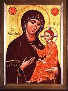 Рукописная икона Стокгольмская