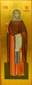 Рукописная икона Таисия Египетская Фиваидская