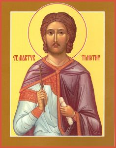 Рукописная икона Тимофей Фиваидский