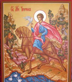 Рукописная икона Трифон мученик