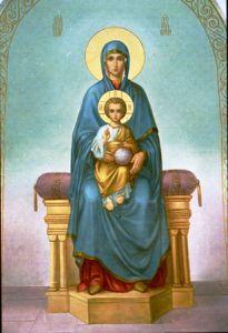 Рукописная икона Тронная