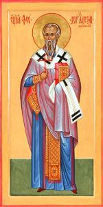 Рукописная икона Феодор Александрийский