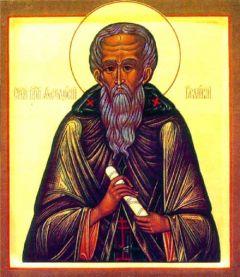 Рукописная икона Феодосий Великий