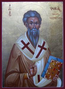 Рукописная икона Фока Синопийский (Синопский)