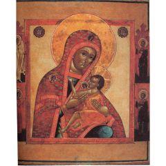 Рукописная икона Хиландарская Акафистная
