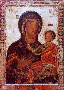 Рукописная икона Ястребская Аракиотисса