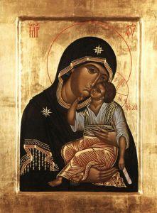 Рукописная икона Яхромская Ахренская