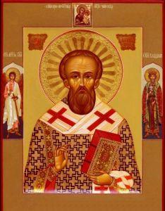 Рукописная икона Георгий Константинопольский