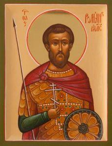 Рукописная икона Роман Римский