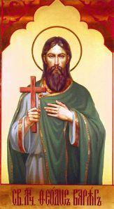 Рукописная икона Федор (Феодор) Варяг