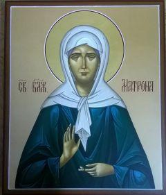 Рукописная икона Матрона