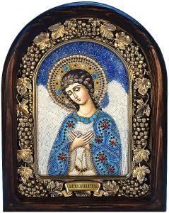 Икона из бисера Ангел Хранитель