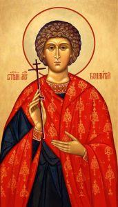 Рукописная икона Вонифатий Милостивый