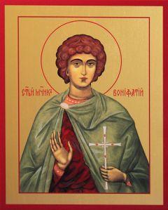 Рукописная икона Вонифатий Тарсийский