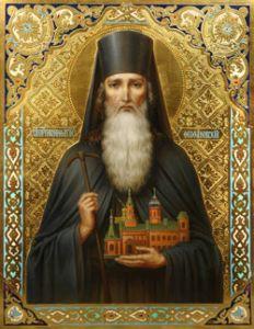 Рукописная икона Вонифатий Киевский (Феофановский)