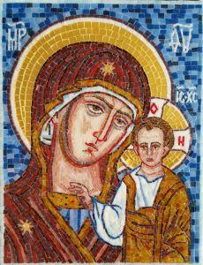 Казанская икона Божией Матери из мозаики в Багете