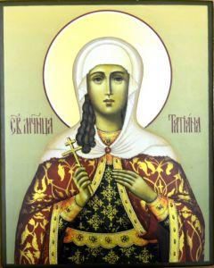 Рукописная икона Татиана (Татьяна) мученица