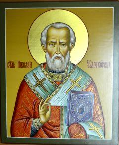 Рукописная икона Никола Вешний (Николай Чудотворец)