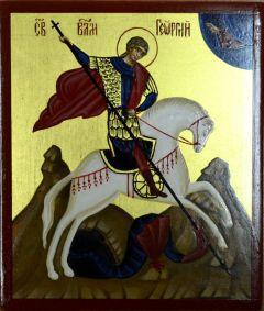 Рукописная икона Георгий Победоносец
