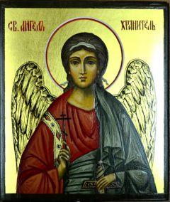 Рукописная икона Ангел Хранитель поясной