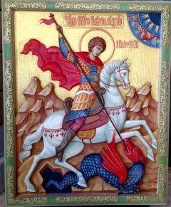 Резная икона Георгий Победоносец