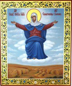 Рукописная икона Спорительница хлебов