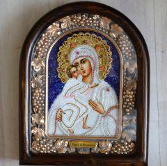 Икона из бисера Феодоровская