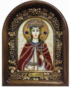 Икона бисером Екатерина