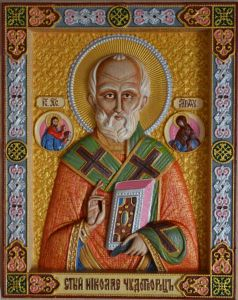 Резная икона Николай Угодник