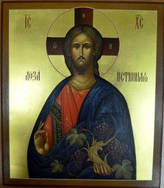 Рукописная икона Истинная Лоза