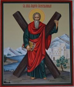 Рукописная икона Апостола Андрея Первозванного