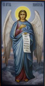 Живописная икона Ангела Хранителя