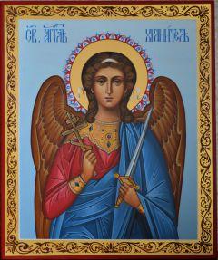 Рукописная икона Ангел Хранитель
