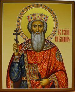 Рукописная икона святой князь Владимир Равноапостольный