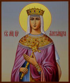 Рукописная икона Александра Римская
