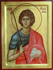 Рукописная икона Авель Праотец