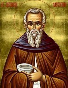 Рукописная икона Авраамий Затворник
