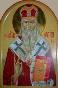 Рукописная икона Александр архиепископ Харьковский
