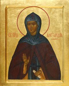 Рукописная икона Александра Дивеевская