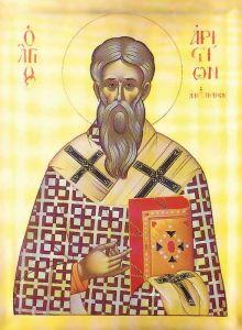 Рукописная икона Аристион Александрийский