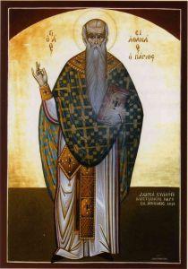 Рукописная икона Афанасий Паросский
