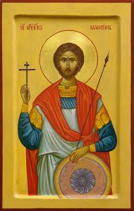 Рукописная икона Валентин Доростольский