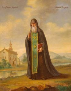 Рукописная икона Варлаам Печерский