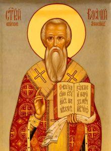 Рукописная икона Василий Амасийский